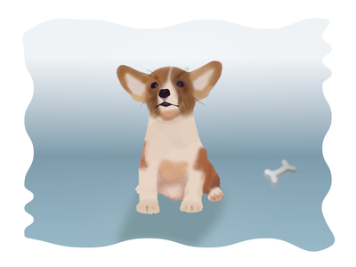 Dog And Bone 3d brushes simple design animals illustrator photoshop brush work vectors illustration puppy dog
