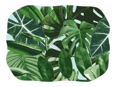 Jungle illustrator fun adobe illustration nature vectorart vectors photoshop jungle fresh plants