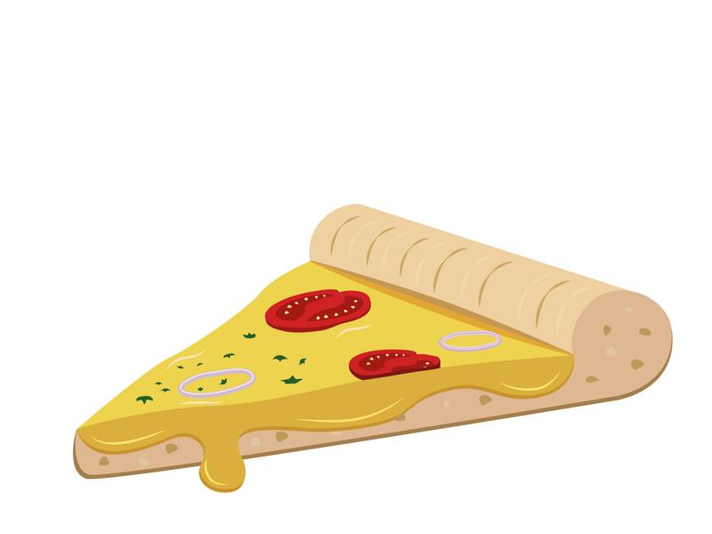 Pizza Slice 2 vectors illustrator pizza slice pizza design pizza