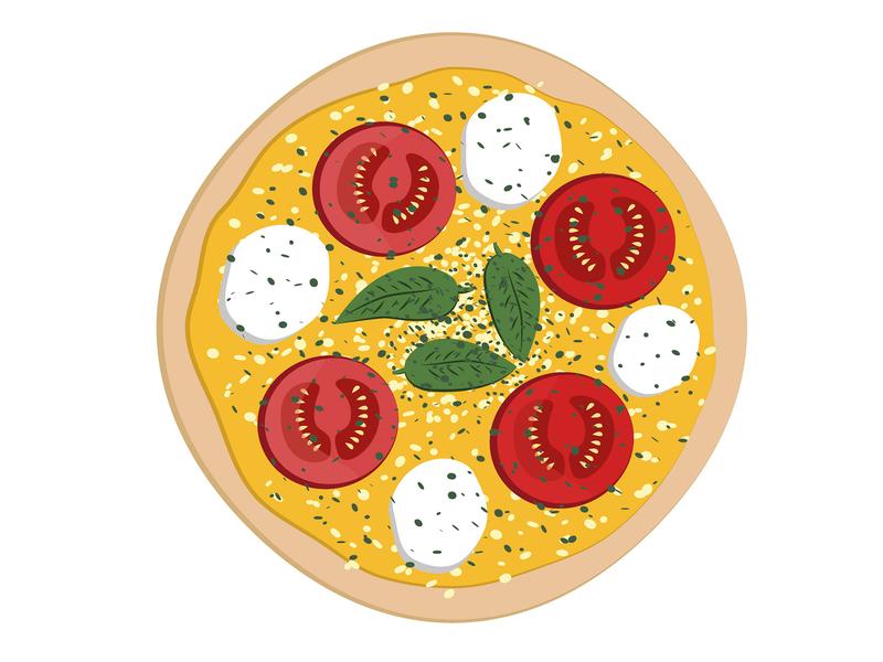 Full Pizza - Mozzarella vector full pizza vectors design theme illustrator mozzarella pizza design pizza