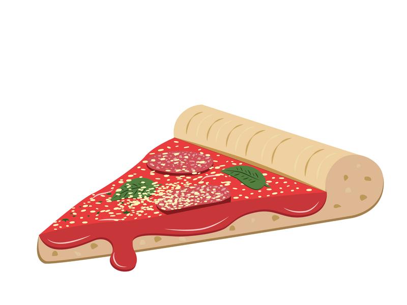 Salami Pizza Slice adobe illustrator vectors salami design project 3d pizza slice illustration pizza
