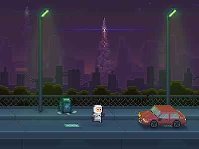 Abandon III pixel 8bit animation wip game