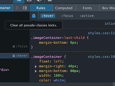 Firefox Dev Tools 2013: Pseudo Class Locking ui firefox mozilla tools