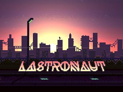 Lastronaut Title Screen pixel game 8bit