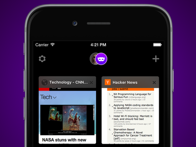 Private Browsing – Firefox on iOS app firefox ux ui mobile