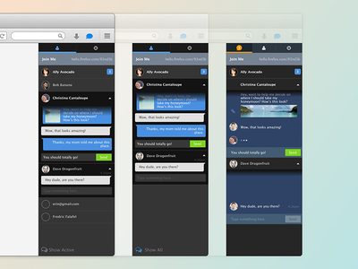 Firefox Hello — Multiple Chats chat firefox ux ui mobile