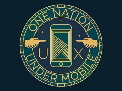 One Nation Under Mobile firefox mozilla ux mobile badge crest sticker