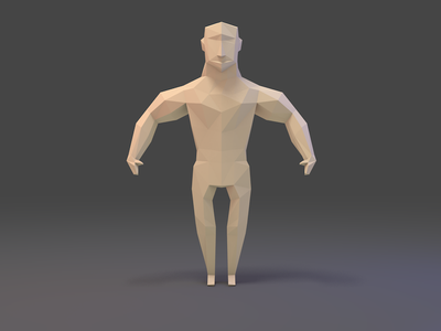 Character Study III gamedev character modelling blender 3d