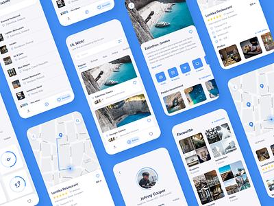 Travel app map gsndesign clean ui uiux clean design clean concept travel travel app cleandesign ui ux mobile ui design mobile app