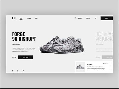 Under Armour redesign design ecommerce shop ux clean minimalism shoes uiux ui redesign concept underarmour sport