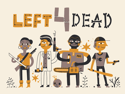 Left 4 Dead designs, themes, templates and downloadable graphic