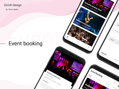 Event Mobile Application ui ux mobile app design design notification mobileapplication navigation eventfilter eventsearch ux  ui