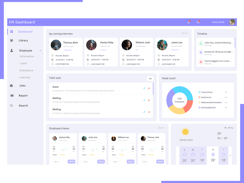 Leave Management Designs Themes Templates And Downloadable Graphic Elements On Dribbble