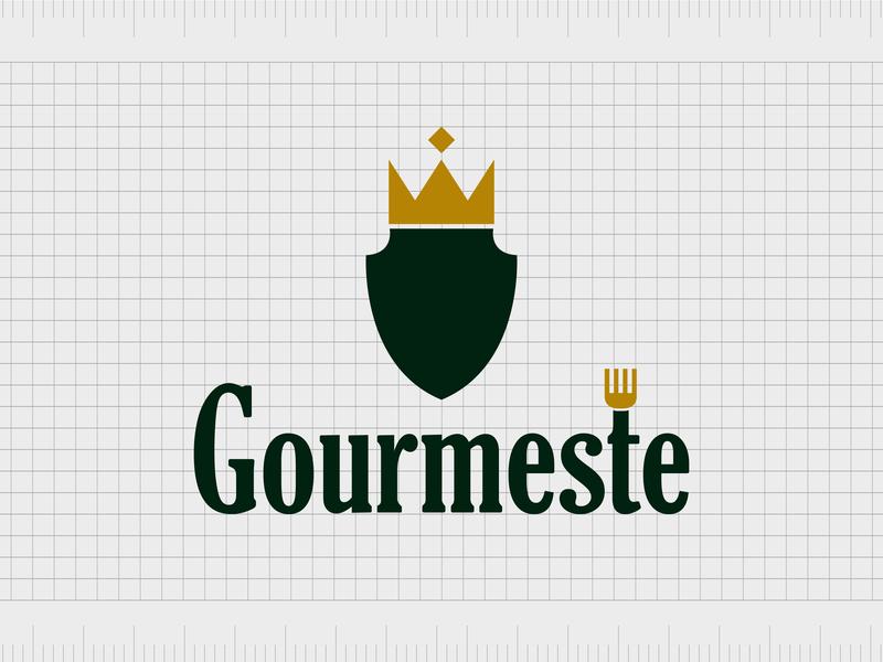 Gourmeste.com identity web minimal lettering illustration typography website naming name ideas logo entrepreneurship domain design company name business name branding agency branding brand