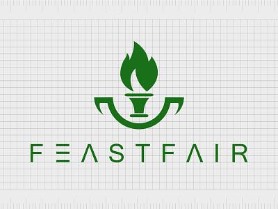 Feastfair.com identity web minimal lettering illustration typography website naming name ideas logo entrepreneurship domain design company name business name branding agency branding brand