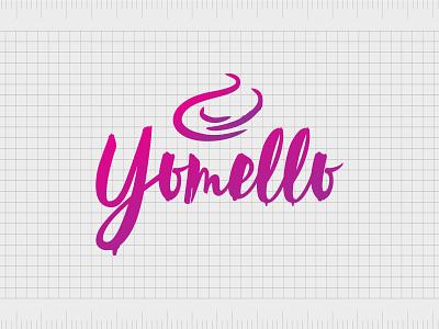 Yomello.com identity web minimal lettering illustration typography website naming name ideas logo entrepreneurship domain design company name business name branding agency branding brand