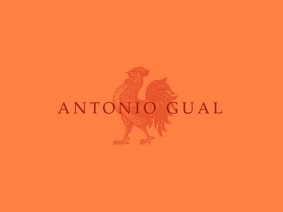 Antonio Gual logo rooster