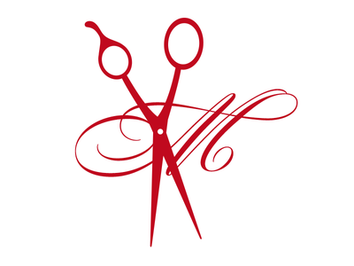 Massimo logo mark type illustration salon
