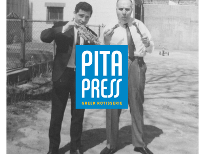 Pita Press logo greek food restaurant