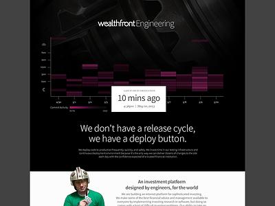 Wealthfront Engineering Page wealthfront landing page d3