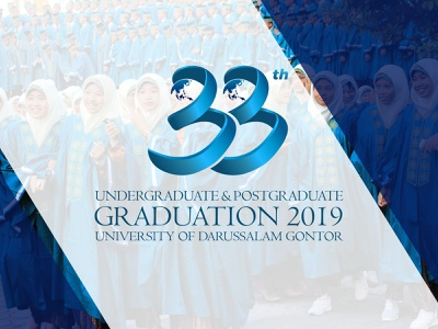 Official Logo 33 graduate education branding typography vector logo design