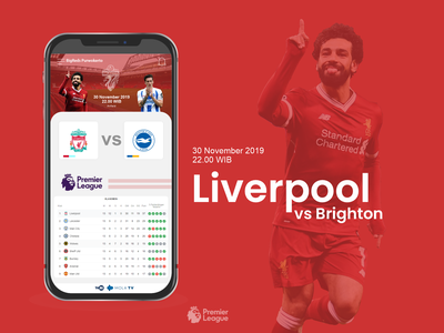 Liverpool vs Brighton UI concept uiux ui ynwa lfc liverpoll football