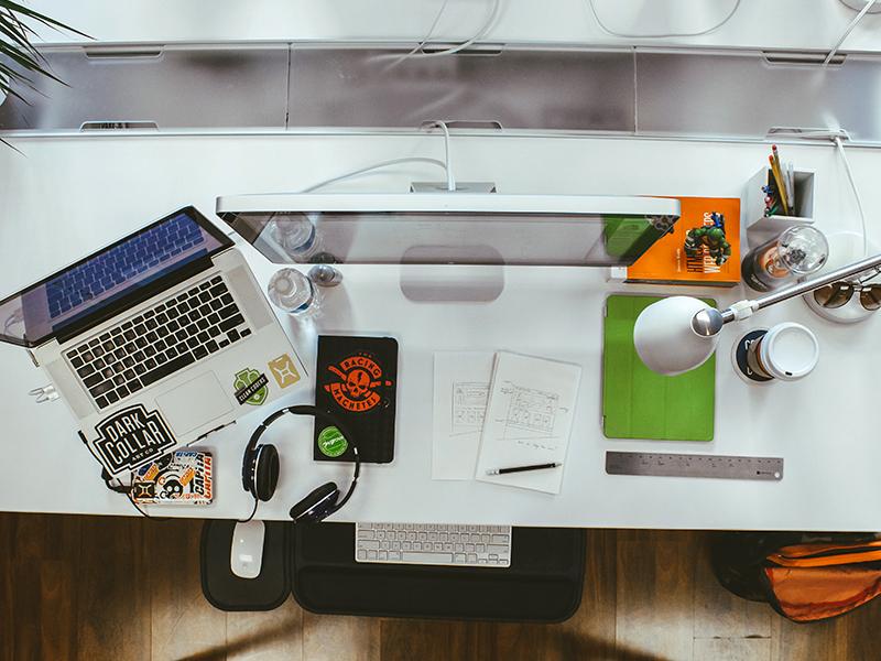 Work desktop desk work workspace