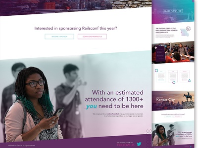 Rc Splashpage jazz modern gradient bright color web design website