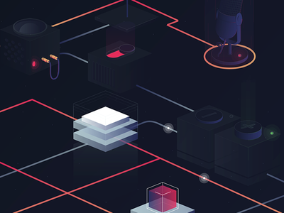 Connections 2 isometric illustration iso 3d illustration 3d