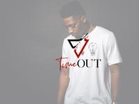"""Time Out"" modern minimal logo"