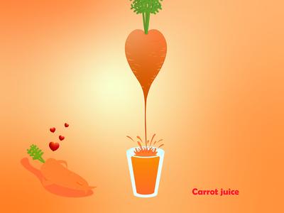Heart shaped carrot