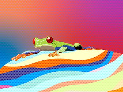 The frog icon 図 イラスト vector アイコン design web logo ベクター illustration