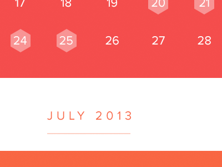 Calendar view