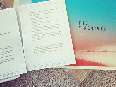 book proofs :D proof blue red gradient cover print book the firesteel