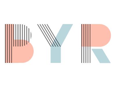 BYR charley harper pastel geometry typography lines custom type