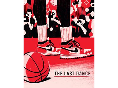 The last dance chicago bulls digital illustration nba basketball air jordan espn netflix movie the last dance jordan michael jordan editorial illustration editorial illustration