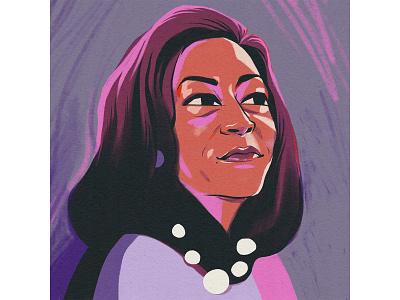 Kamala Harris portrait illustration kamala harris portrait editorial woman illustration
