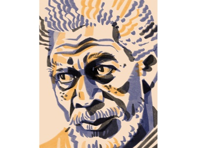 Morgan Freeman editorial actor movie morgan freeman portrait illustration
