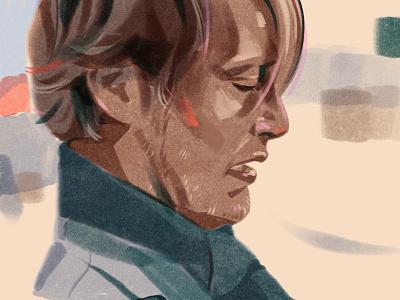 Another Round / Druk (original title), movie/2020 movie mads mikkelsen actor editorial illustration illustration portrait illustration portrait