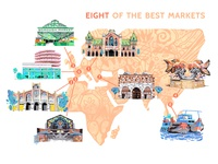 Eight of the best markets - map