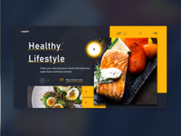 Healthy lifestyle landing page