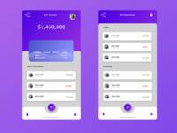 Purple app design