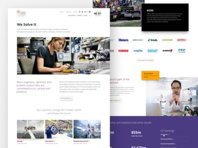 Website redesign design clean minimal tech web website homepage ux ui