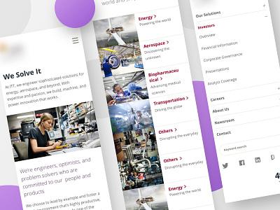Website redesign mobile nav navigation menu home homepage minimal clean ux ui mobile