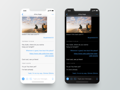 Minimalist Chat UI iphone x minimalist ux ui mobile ios interaction chat bot ai app