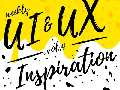 Weekly UI & UX Inspiration vol. 4 typography article blog layout inspiration ux ui