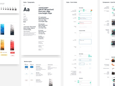 Design System form ui kit design system style guide navigation ui button hover card library icon color palette