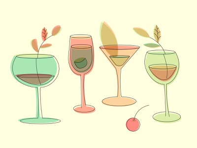 Vector illustration Cocktail party illustration art vector artwork offset cocktail party cocktail bar illustration vector
