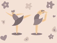 Ballet dancers vector illustration