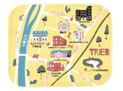 City map. Trier